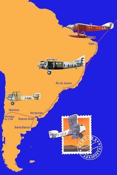 La Ligne Sud-Américaine de l'Aéropostale. De haut en bas : Laté 28. Laté 25. Potez 25 et Breguet 14. Aeropostale, Historic Posters, Aeroplane Flight, Cowboy Art, Aircraft Design, Air France, Aviation Art, Vintage Travel Posters, Zeppelin