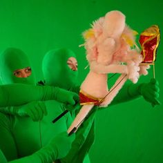Puppetry green screen  Green screen work for season 2 of Welcome to Anhedonia  #welcometoanhedonia #webseries #indiefilm #indiewebseries #greenscreen #sfx #filmmaking #puppeteer #puppet #puppets #specialeffects #instagram #pink #kicks #performer #directing