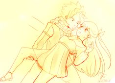 this is cute Nalu Natsu and Lucy<----I love Nalu bit let's face it...he would probably drop her! But still cute!!