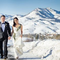 Winter gown by @lulyyang was perfect for this #sunvalleywedding over the holidays....#beautiful