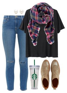 """""""Fashionably 40 Minutes Late to School Today✌️ read d"""" by robramey17 ❤ liked on Polyvore featuring Penelope Chilvers, Frame Denim, R13, Express and Tiffany & Co."""