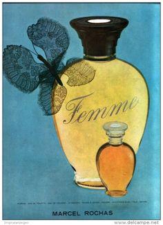 Original-Anzeige / Publicité 1957 - (en français) FEMME - PARFUM MARCEL ROCHAS  - ca. 200 x 270 mm