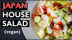 Great 6 Zestful Fabulous salad Recipes Great 8 Tastefulluscious Easy salad Recipes for healthy We are share for you. Amazing Different Easy Salad Recipes, Easy Salads, Vegan Recipes Easy, Asian Recipes, Ethnic Recipes, House Salad, Vegan Ramen, Miso Dressing, Japanese House