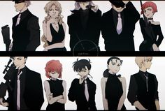 검은 조직VS검은 조직에 잠입한 스파이,신이치,쉐리,버본,키르,아카이