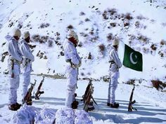 Pakistani soldiers praying in extreme sub-zero conditions in the Siachen Glacier, one of the most notorious battlefields on earth.