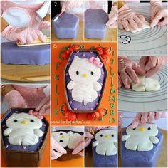Paso a Paso Tarta Hello Kitty Momia