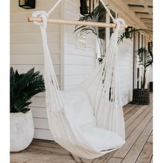 The Noosa Natural Hammock Chair Swing is perfect for lazy afternoons under your favourite tree, in your courtyard, on the verandah or inside! Our Noosa hammock swing will quickly become that statem. Backyard Hammock, Hammock Swing Chair, Swinging Chair, Swing Chairs, Hanging Chairs, Balcony Swing, Hammock Ideas, High Chairs, Wooden Office Chair