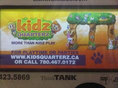 The bright and colourful ad for Kidz Quarterz on ThinkTANK's Mobile Showroom is enough to make anyone want to go! #mobileads #alternativeadvertising #outdooradvertising #outofhomemarketing