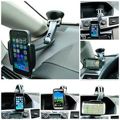 Universal Windshield Dashboard Car Mount Holder for iPhone, Samsung Galaxy, LG and Smartphone from CYANICS. Car Accessories For Women, Iphone Accessories, Dashboard Car, Car Mount Holder, Car Phone Mount, Lg G3, Technology Gadgets, Samsung Galaxy S5, Iphone 5s