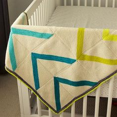 Fly-Away may be the most customizable blanket ever!  From baby to bedspread, you can make it whichever size you want just by adding squares.  The pattern includes diagrams showing the many different ways you can line up the blocks to create various designs.  It's a quilt that you knit!  Design by Tin Can Knits.