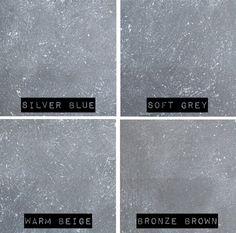 Betonlook-verf-samples-4-kleuren-namen-primer-grijs Dyi Bathroom Remodel, Paint Samples, Questions, Just Do It, Concrete, New Homes, Bronze, Beige, Wall