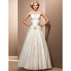 Ball Gown Sweetheart Floor-length Satin Wedding Dress  – AUD $ 358.73
