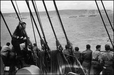 DORSET, WEYMOUTH, England—Allied Forces leaving the shores near Weymouth for their invasion and liberation of the French coast of Normandy, June 1-5, 1944.