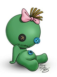 Cute Monsters Drawings, Creepy Drawings, Halloween Drawings, Cool Art Drawings, Voodoo Doll Tattoo, Voodoo Dolls, Estilo Tim Burton, Lilo Y Stitch, Doll Drawing