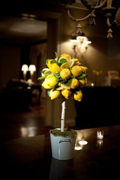 When life give you lemons. make really cute centerpieces. Photography By laurie bailey photography, Floral design By Toni Chandler Flowers and Events. Style Me Pretty