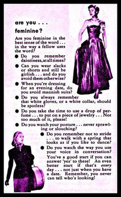 are you feminine?