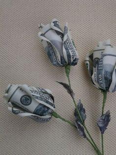 Items similar to origami flowers roses . money flower gift good luck souvenire on Etsy - Child Support - Ideas of Child Support - Rose Money Origami. Origami Wedding, Origami Rose, Origami Flowers, Origami Art, Oragami, Dollar Bill Origami, Money Origami, Money Lei, Dollar Bills