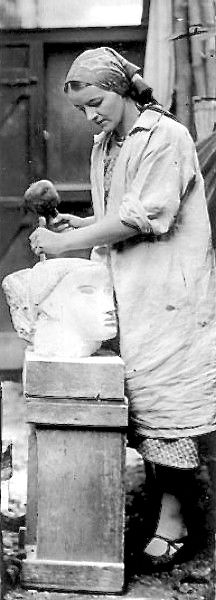 Artist and Studio — Barbara Hepworth (British, 1903 – carving. Modern Sculpture, Abstract Sculpture, Sculpture Art, Metal Sculptures, Bronze Sculpture, Ceramic Sculptures, Barbara Hepworth, Artist Art, Artist At Work