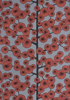 Miss Print Wallpaper - Pattern: Cotton Tree, Color: Sunset