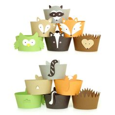 Woodland Cupcake Wrappers