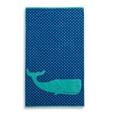 Add a charming touch to your summertime style with this absorbent Whale Jacquard Beach Towel. Featuring an oversized whale swimming in a sea of polka dots, this cotton velour towel makes a great addition to your day at the beach or by the pool. Monogrammed Beach Towels, Main Image, Oversized Beach Towels, Beach Umbrella, Buy Buy Baby, Child Day, Fabric Decor, Whale, Boy Or Girl