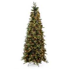 Have to have it. Green River Spruce Slim Pre-lit Christmas Tree $189.01