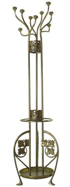 hall tree coat rack umbrella stand. Perchero de bronce de Gaspar Homar. Barcelona