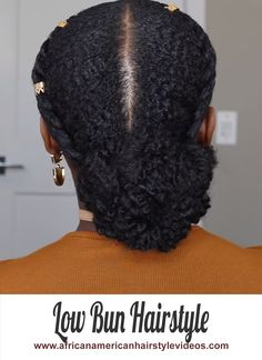 Slick Down 2 Cornrow Braids and Low Bun 4c Natural Hair, Natural Hair Styles, Short Hair Styles, 2 Cornrow Braids, Natural Protective Styles, Natural Hair Tutorials, African American Hairstyles, Hair Pictures, Hair Videos