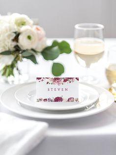 Wedding Place Cards Wedding Name Cards Editable Escort Cards