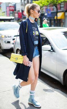 Gigi Hadid seen on May 2016 in New York City. Get premium, high resolution news photos at Getty Images Love Fashion, Fashion Models, Fashion Outfits, Net Fashion, Fashion Photo, Style Fashion, Mode City, Estilo Gigi Hadid, Gigi Hadid Looks