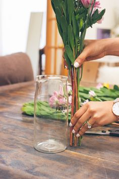measuring flowers at home, easy way to trim flowers