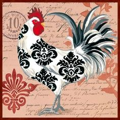This item is unavailable Diamond Mosaic Chicken Diy Diamond Embroidery princess Square Paste Full Cross Stitch Kit Diy Dia Rooster Art, Rooster Decor, Rooster Painting, Chicken Painting, Chicken Art, Arte Do Galo, Decoupage, Images Vintage, Chickens And Roosters
