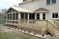 View Four Season A-Frame Style Vinyl Sunroom Photos 3 Season Porch, Sunroom Windows, Garden Room Extensions, Screened In Deck, Sunroom Addition, Home On The Range, Home Additions, Types Of Houses, Luxury Interior Design