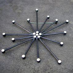 Snowflake Brooch Mid Century Modern Sputnik Brooch by lsueszabo
