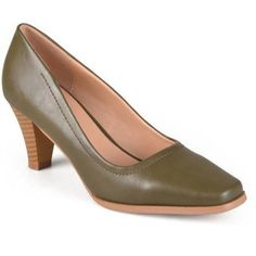 Brinley Co. Women's Lyla Stacked Heel Classic Pumps, Size: 10, Green