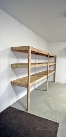 Cheapest soln yet. Sketch up to add doors and remove floor supports. Easy and Fast DIY Garage or Basement Shelving for Tote Storage
