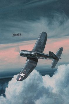 South Pacific Hot Rods by Wade Meyers, Oil, 12 x 18 Ww2 Fighter Planes, Airplane Fighter, Air Fighter, Airplane Art, Ww2 Planes, Fighter Aircraft, Fighter Jets, Ww2 Aircraft, Military Aircraft