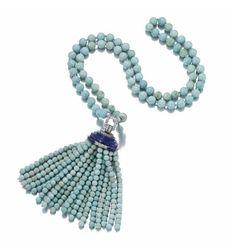 Turquoise, Lapis Lazuli and Diamond Sautoir, Van Cleef & Arpels, 1929