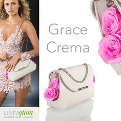 """LinfaGlam found an inspiration """"Grace is a leather purse adorned with preserved roses - linfaglam.com 