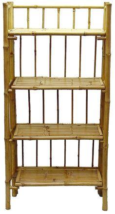 4 Tier Bamboo Shelf