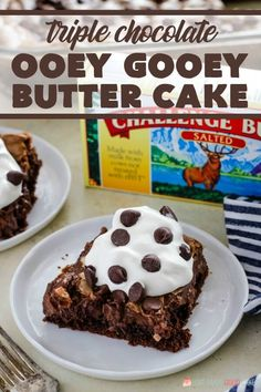 When chocolate cravings strike reach for this Triple Chocolate Ooey Gooey Butter Cake recipe where you'll find THREE luscious layers of decadent chocolate! Chocolate Ooey Gooey Butter Cake Recipe, Homemade Chocolate, Chocolate Cake, Decadent Chocolate, Chocolate Lovers, Chocolate Recipes, Baking Recipes, Cake Recipes, Dessert Recipes