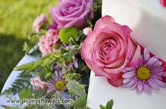 Cake flower close up