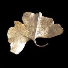 Michael Michaud Ginkgo Leaf Pin - Large