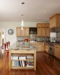 Eclectic Kitchen By Wood Floors/cabinets, Dark Counter, Dark Tile Andre  Rothblatt Architecture