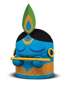 Krishna Figurine from India Clay Art Projects, Clay Crafts, Arts And Crafts, Cute Krishna, Krishna Art, Shree Krishna, Lord Shiva Painting, Krishna Painting, Toy Art
