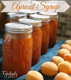 Got apricots growing on your tree? Then you must make yourself a batch of this delicious homemade apricot syrup! This batch recipe will make 2 quarts of syrup. Apricot Recipes, Jam Recipes, Canning Recipes, Fruit Syrup Recipe, Canning Tips, Fruit Recipes, Cooker Recipes, Canning Apricots, Sweets
