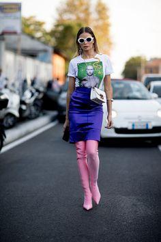 Milan Fashion Week Street Style Spring 2018