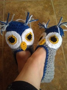Ladies Owl Slippers. Too cute!. I'm sure Milo the kitty would love to chase these around...lol!