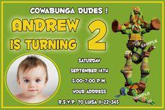 Items similar to TMNT Birthday Invitation, Ninja Turtles Birthday Invitation,Ninja Turtles custom order - Digital file on Etsy