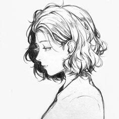 really cool drawings Anime Drawings Sketches, Pencil Art Drawings, Anime Sketch, Cute Drawings, Anime Art Girl, Manga Art, Anime Girls, Drawn Art, Poses References